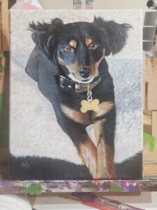 Painting of Sophie, Artist: Andrea Boyette